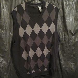 Axcess argyle  pullover sweater vest XL